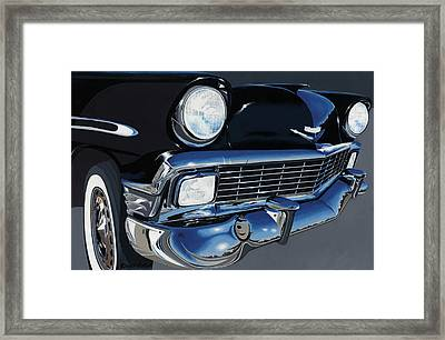 Larry's '56 Bel Aire Framed Print by John Wyckoff