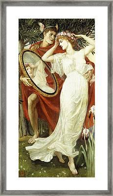 L'art Et La Vie Framed Print by Walter Crane