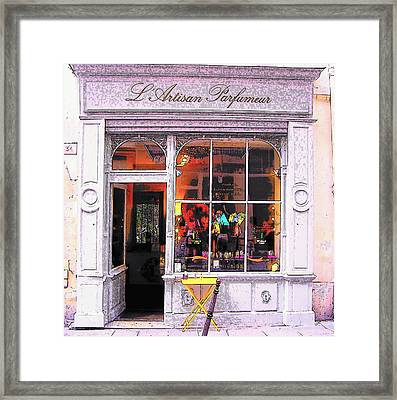 L'artisan Parfumeur Paris Framed Print by Jan Matson