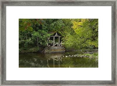 Larwood Covered Bridge Park Framed Print
