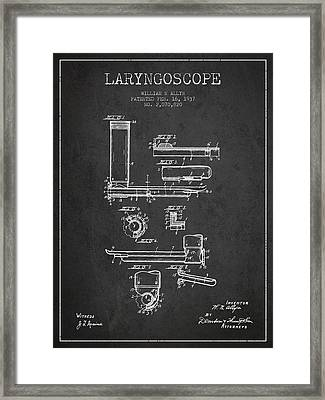 Laryngoscope Patent From 1937  - Dark Framed Print