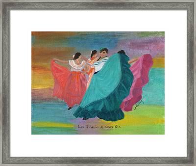 Las Bailarinas De Costa Rica Framed Print by Linda Feinberg