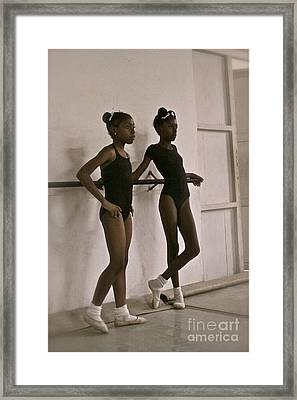 Las Bailarinas Framed Print by Maureen J Haldeman