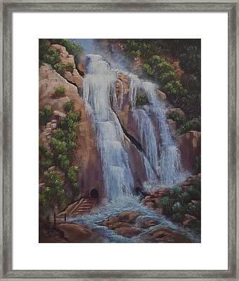 Las Brisas Falls Huatuco Mexico Framed Print