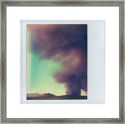 Las Conchas Fire On Instant Film Framed Print
