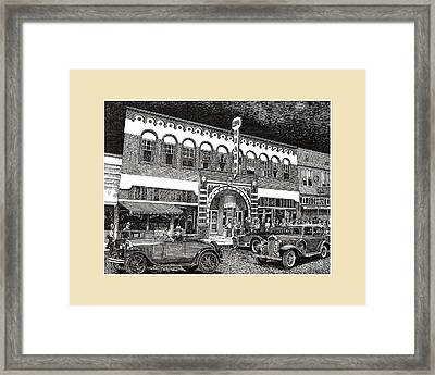 Las Cruces New Mexico 1935 Framed Print by Jack Pumphrey