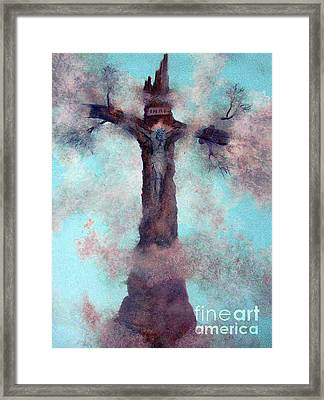 Las Cruces New Mexico Art Paintings Framed Print by Alberto Thirion