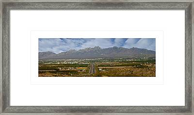 Las Cruces New Mexico Panorama Framed Print