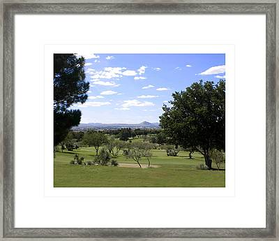 Las Cruces Picacho Peak Framed Print
