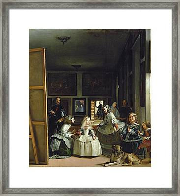 Las Meninas Or The Family Of Philip Iv, C.1656  Framed Print