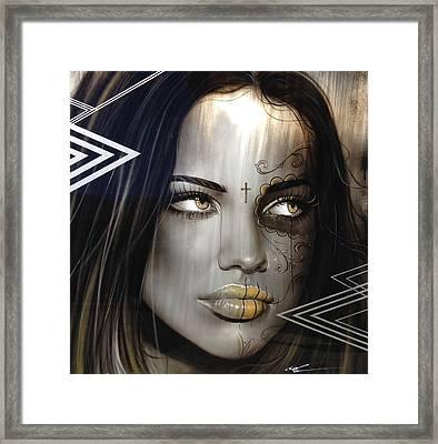 Adriana Lima - ' Las Mujeres Espanolas ' Framed Print by Christian Chapman Art