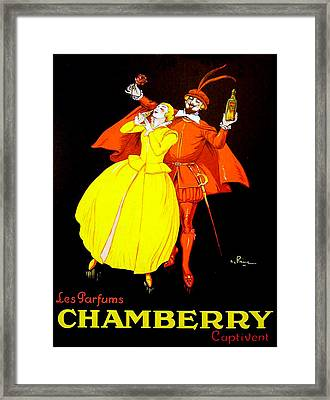Las Parfums Chamberry Perfume Advertising Poster Framed Print