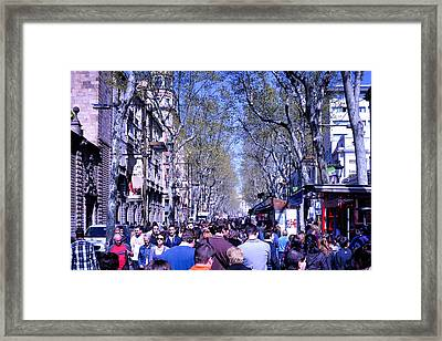 Las Ramblas - Barcelona Spain Framed Print