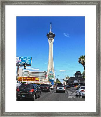 Las Vegas - Stratosphere Framed Print by Gregory Dyer