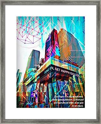 Las Vegas Apex And Abyss Framed Print