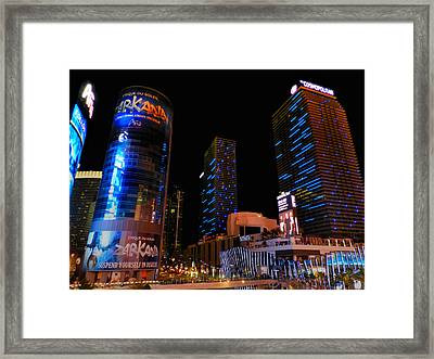Las Vegas - Aria And Cosmopolitan 001 Framed Print by Lance Vaughn