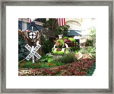 Las Vegas - Bellagio Casino - 12124 Framed Print by DC Photographer