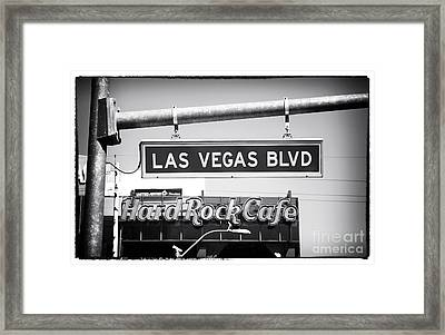 Las Vegas Blvd Framed Print by John Rizzuto