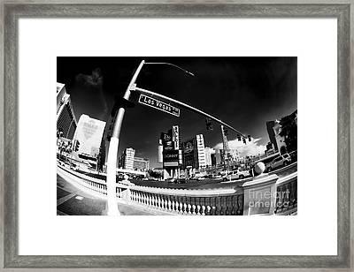 Las Vegas Boulevard Curves Framed Print by John Rizzuto