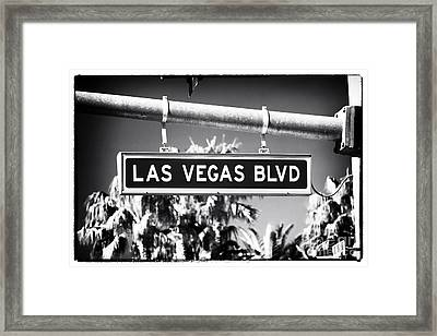 Las Vegas Boulevard Framed Print by John Rizzuto