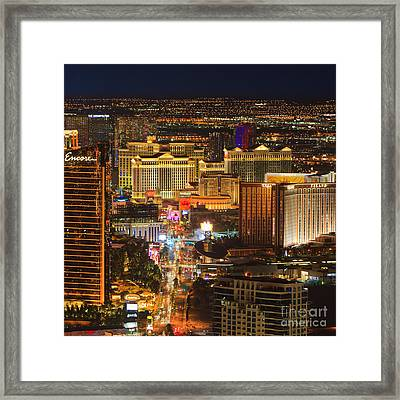 Las Vegas By Night Framed Print by Henk Meijer Photography