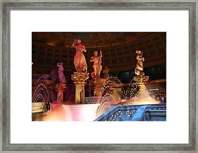 Las Vegas - Caesars Palace - 121215 Framed Print by DC Photographer