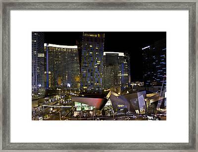 Las Vegas City Center Framed Print