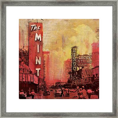 Las Vegas Collage 3 Framed Print by Corporate Art Task Force
