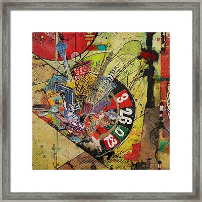 Las Vegas Collage Framed Print by Corporate Art Task Force