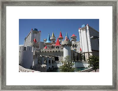 Las Vegas - Excalibur Casino - 12122 Framed Print by DC Photographer