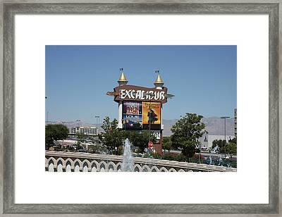 Las Vegas - Excalibur Casino - 12123 Framed Print by DC Photographer