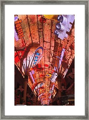 Las Vegas Freemont Street Experience Framed Print