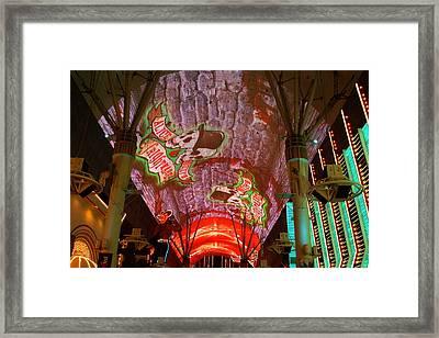 Las Vegas Freemont Street Lights Framed Print