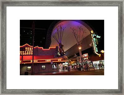 Las Vegas - Fremont Street Experience - 121222 Framed Print by DC Photographer