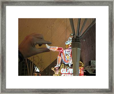 Las Vegas - Fremont Street Experience - 12129 Framed Print by DC Photographer