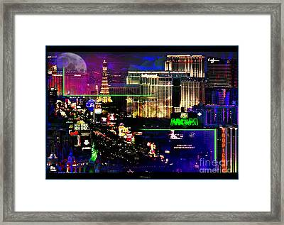 Las Vegas Igniting Your Fire Framed Print by Christine Mayfield