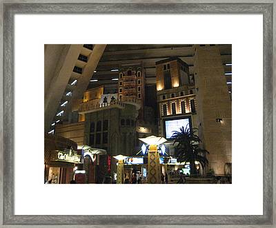 Las Vegas - Luxor Casino - 12125 Framed Print by DC Photographer