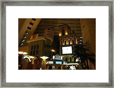 Las Vegas - Luxor Casino - 12128 Framed Print by DC Photographer