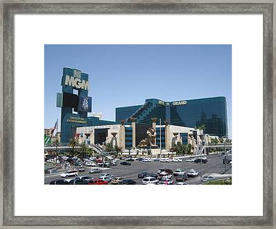 Las Vegas - Mgm Casino - 121210 Framed Print by DC Photographer
