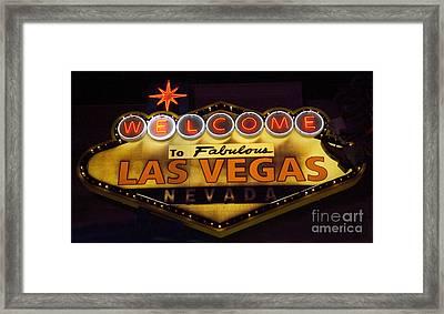 Las Vegas Neon 11 Framed Print