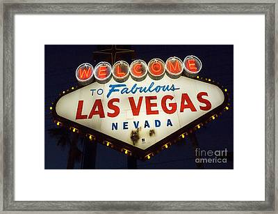 Welcome To Fabulous Las Vegas Nevada Sign  Framed Print