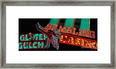 Las Vegas Neon Signs Fremont Street  Framed Print by Amy Cicconi