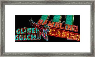 Las Vegas Neon Signs Fremont Street  Framed Print