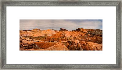 Las Vegas Nevada Mojave Desert Valley Of Fire Panorama Framed Print