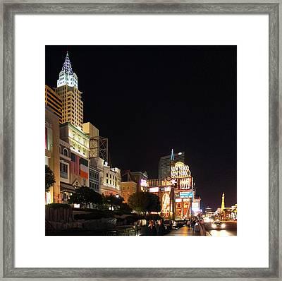 Las Vegas - New York New York Casino - 01131 Framed Print by DC Photographer