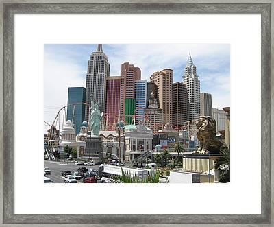 Las Vegas - New York New York Casino - 12121 Framed Print by DC Photographer