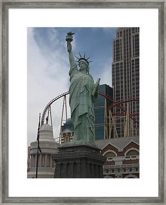 Las Vegas - New York New York Casino - 12122 Framed Print by DC Photographer