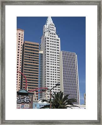 Las Vegas - New York New York Casino - 12125 Framed Print by DC Photographer