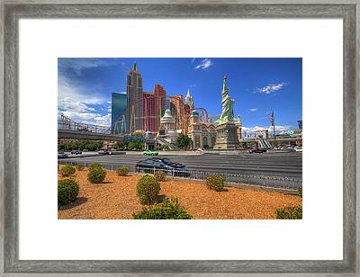 Las Vegas New York New York Framed Print