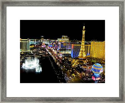 Las Vegas Night Life Framed Print by Kip Krause